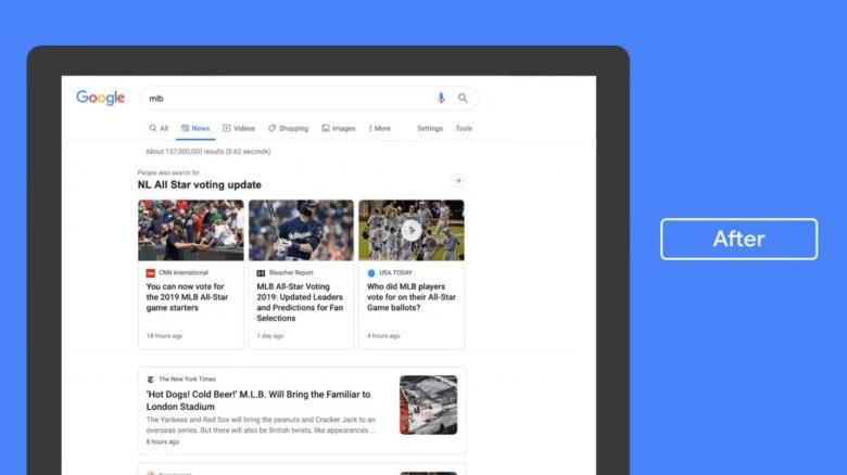 Google News Desktop-Update 2019