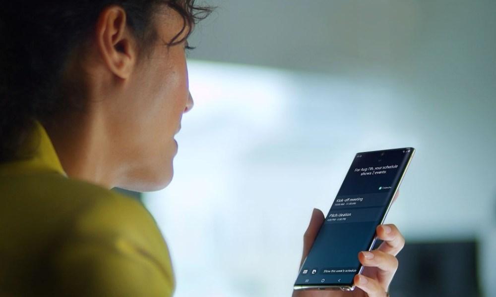 Samsung Galaxy Note 10 Bixby Header