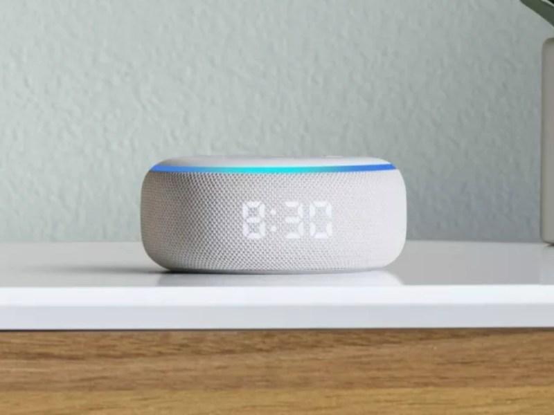 Amazon Echo Dot Clock