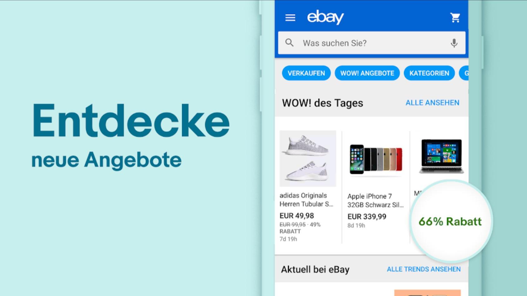 Nur heute: Gutschein für Ebay-App mit bis zu 30€ Rabatt