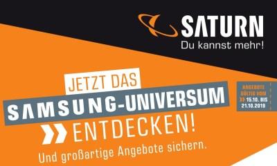 Saturn Samsung Flyer Prospekt Oktober 2019