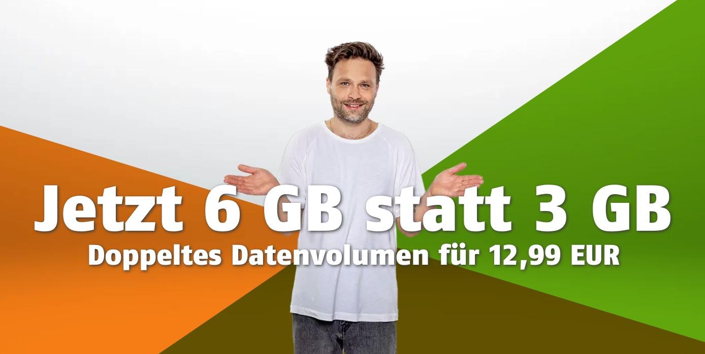 Klarmobil-Aktion: 6 statt 3 GB Datenvolumen, Vodafone-LTE für nur 12,99€