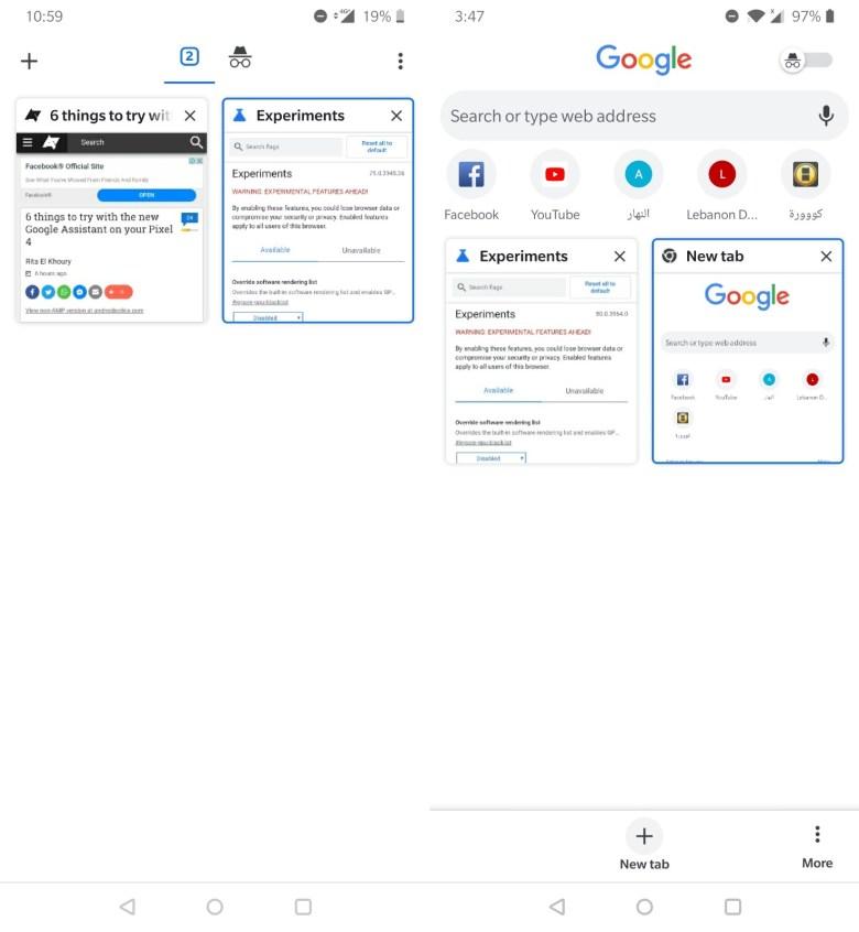 Chrome Tab Wechsler Test