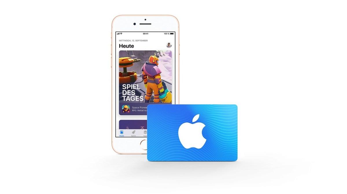 iTunes Geschenkkarten Gutscheinkarten Header