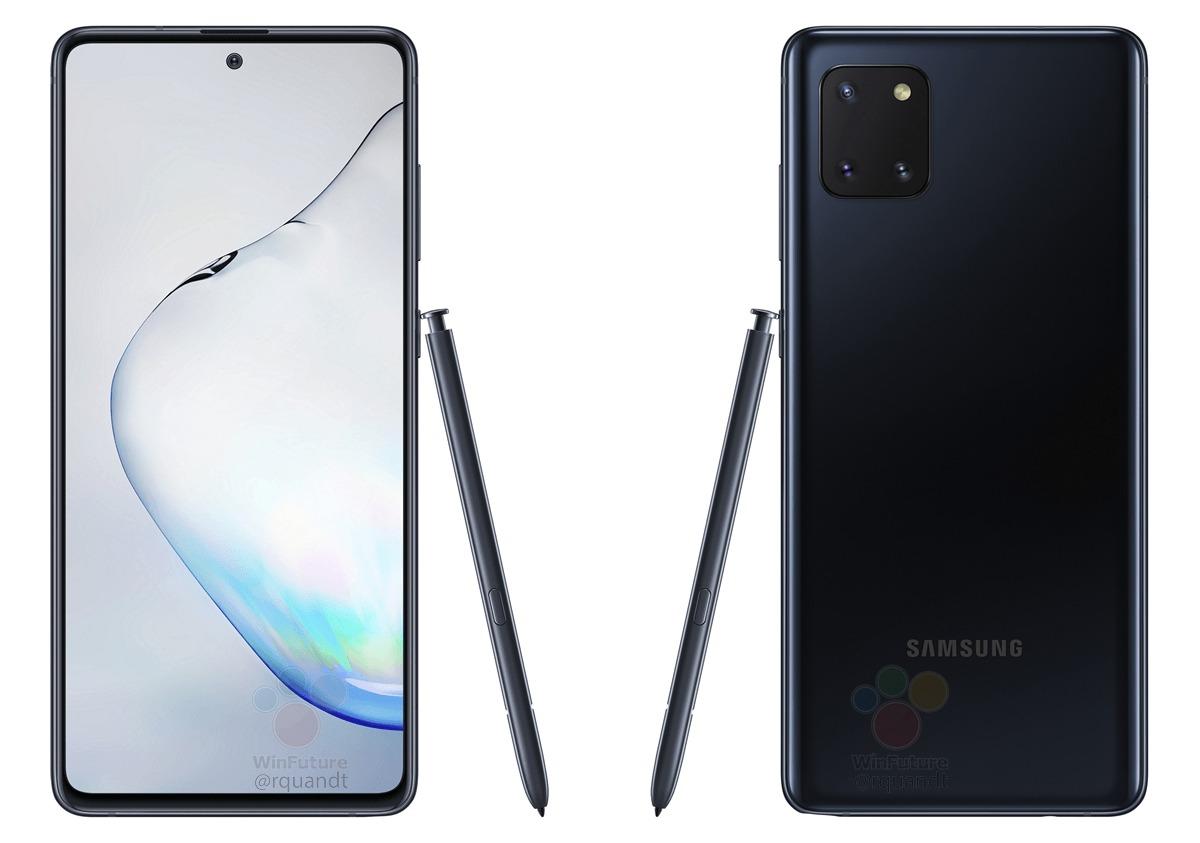 Samsung galaxy Note 10 Lite Leak