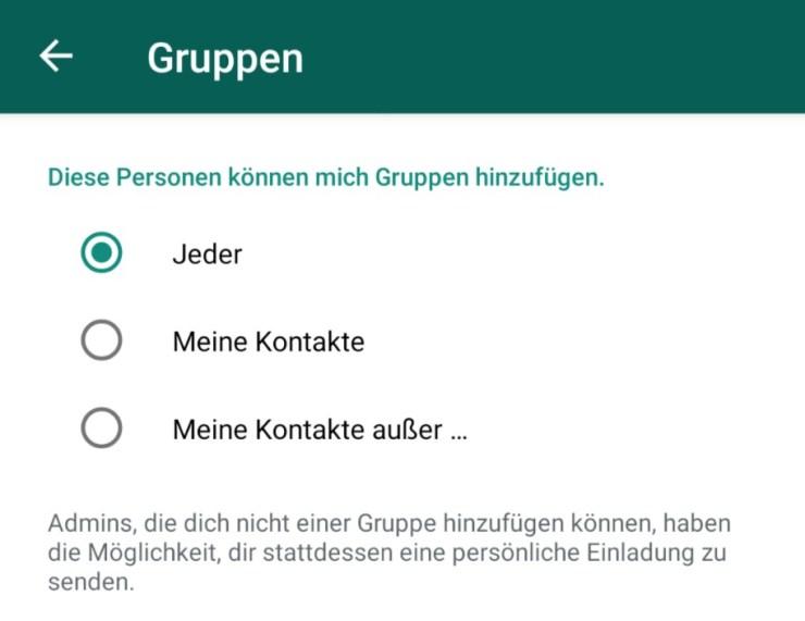 WhatsApp Gruppen Hinzufügen Einstellungen