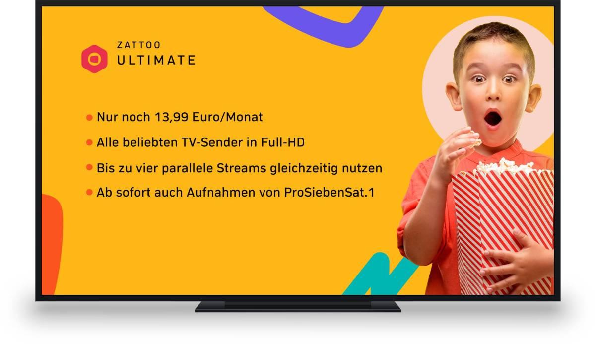 Zattoo Unlimited ab Dez 2019
