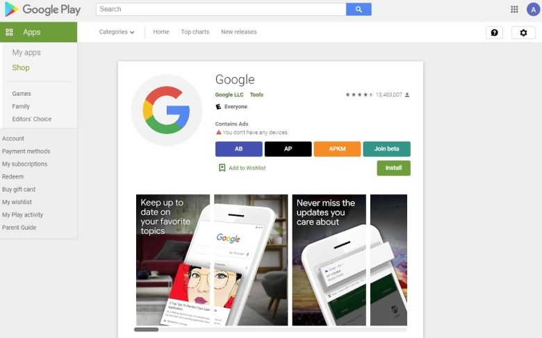 Google Play Store Toolbox