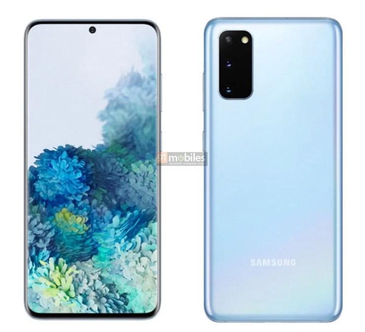 Samsung Galaxy S20 Blau Leak