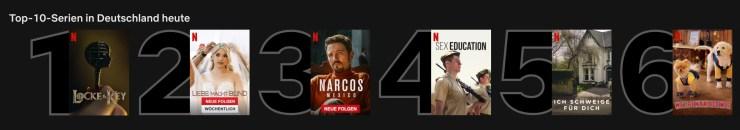 Netflix Top 10 Serien Deutschland Screenshot