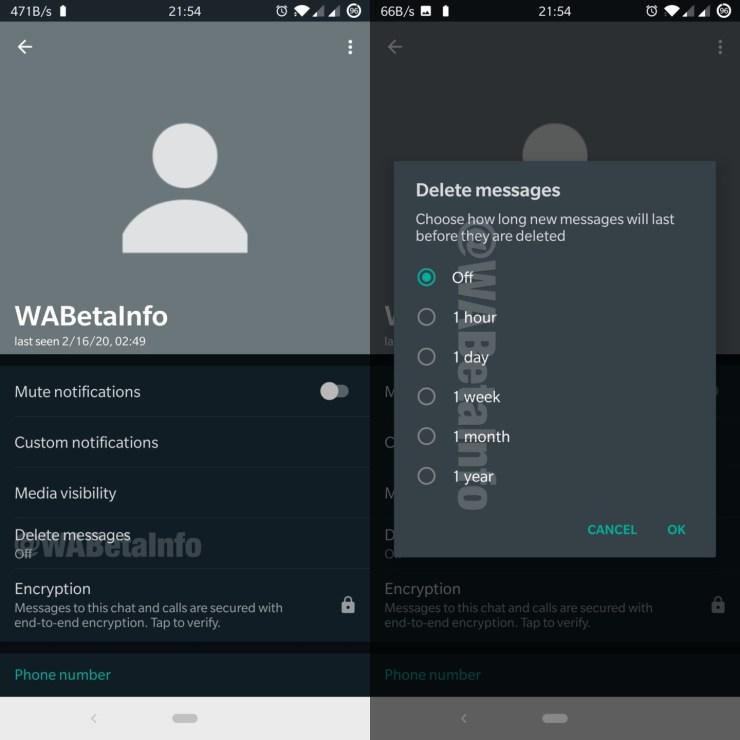 Automatisches Löschen Whatsapp Leak