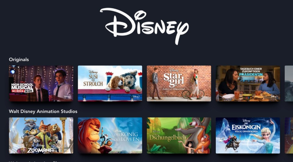 Disney Plus Screenshot