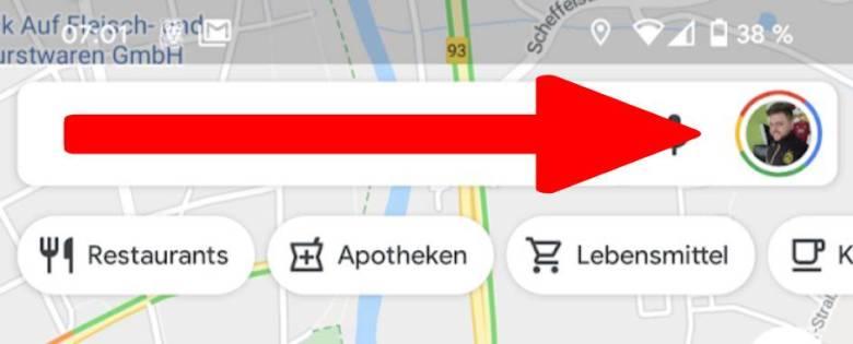 Google Maps Hauptmenü Weg (1)