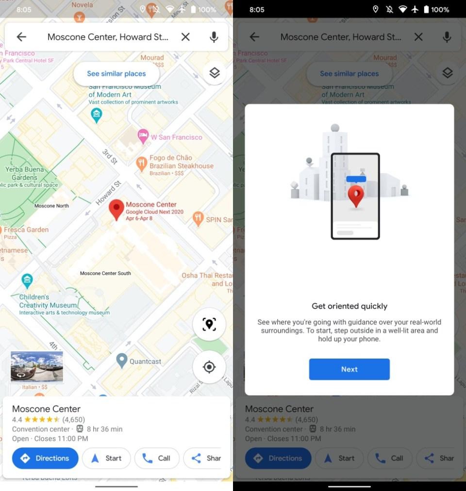 Live View Schnellzugriff Google Maps