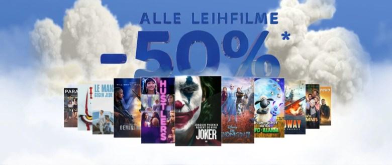 50 Prozent Leihfilme Sky Store