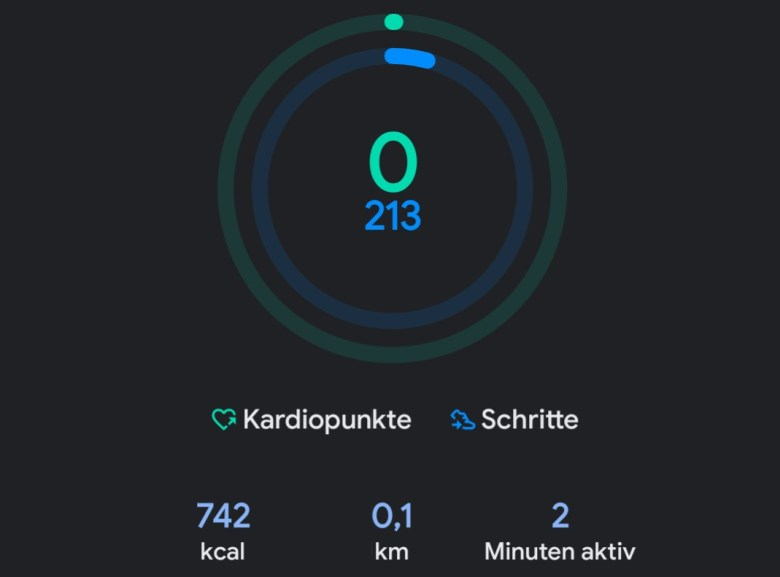 Google Fit App Screenshot Neu April 2020