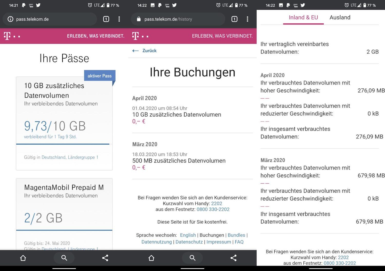 Telekom: Bessere Anzeige für Datenverbrauch, langsameres