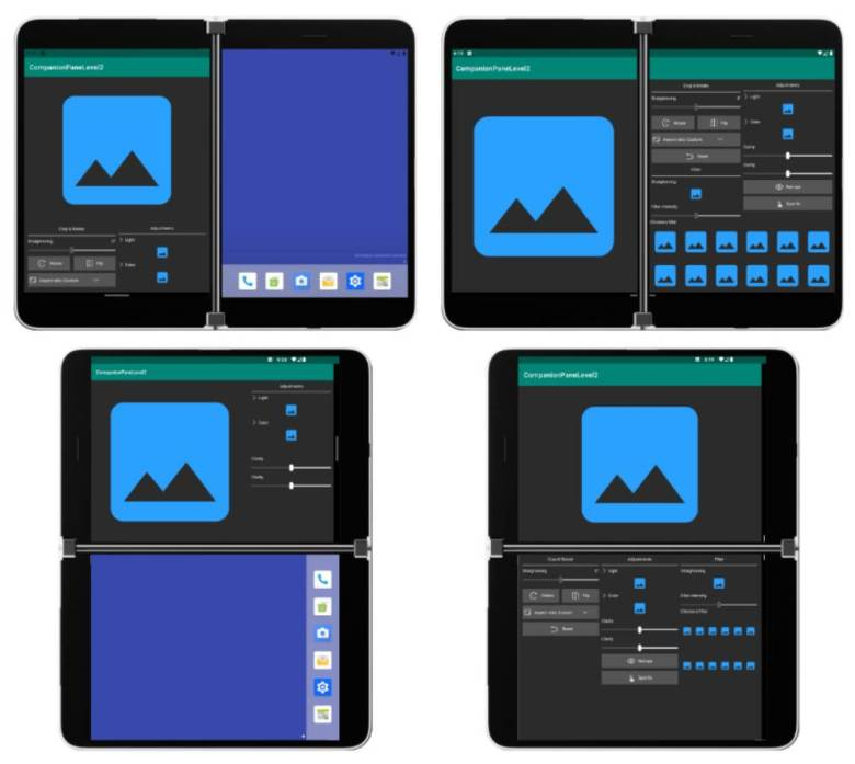 Surface Duo App Layouts