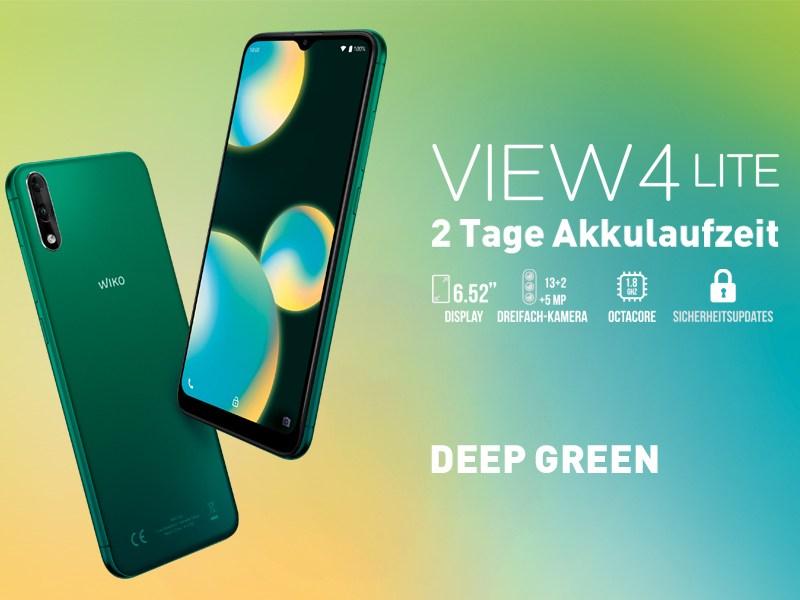 Wiko View 4 Lite Deep Green Header