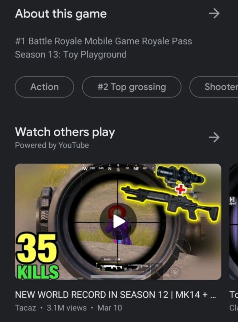 Gameplay Video Play Store
