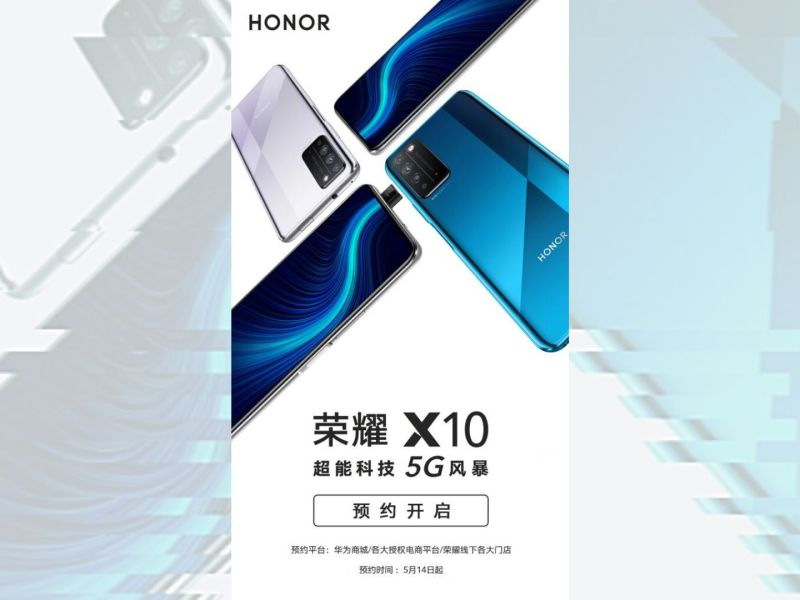 Honor X10 Poster 5g Header