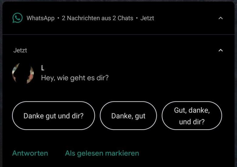 Antwortvorschläge Android 10