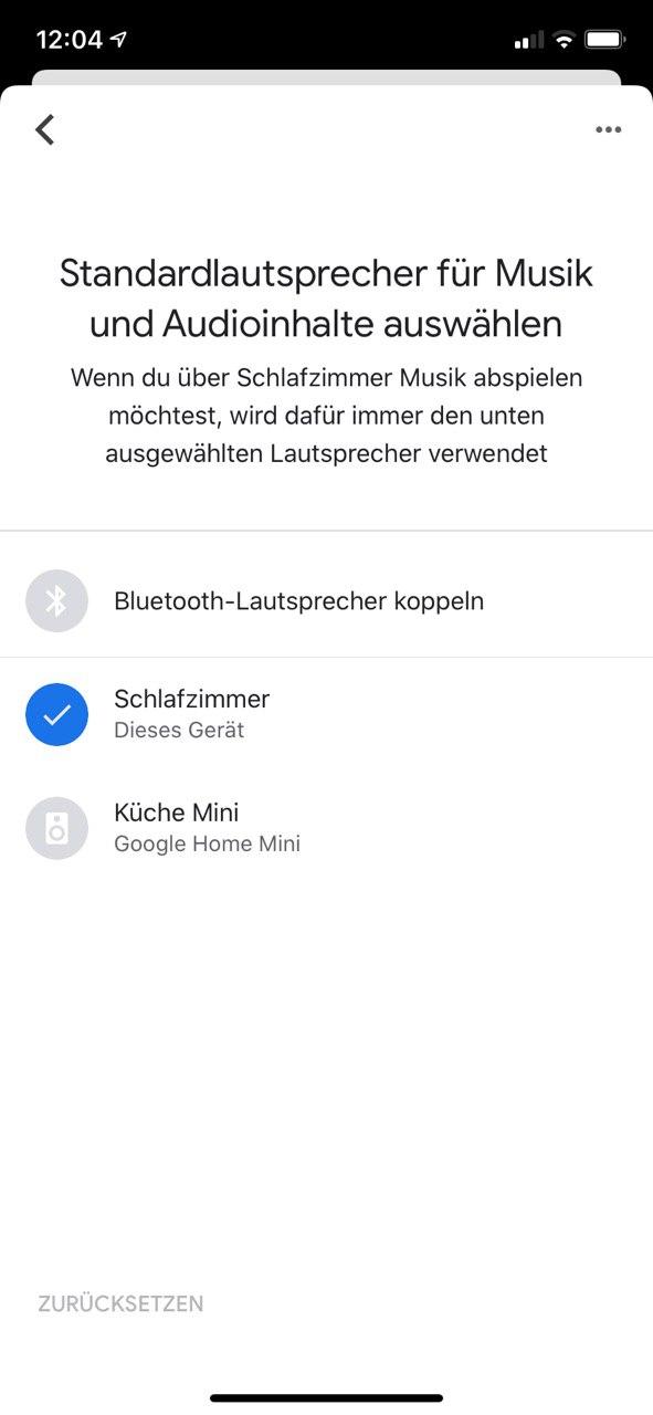 Google Home Assistant Standard Lautsprecher