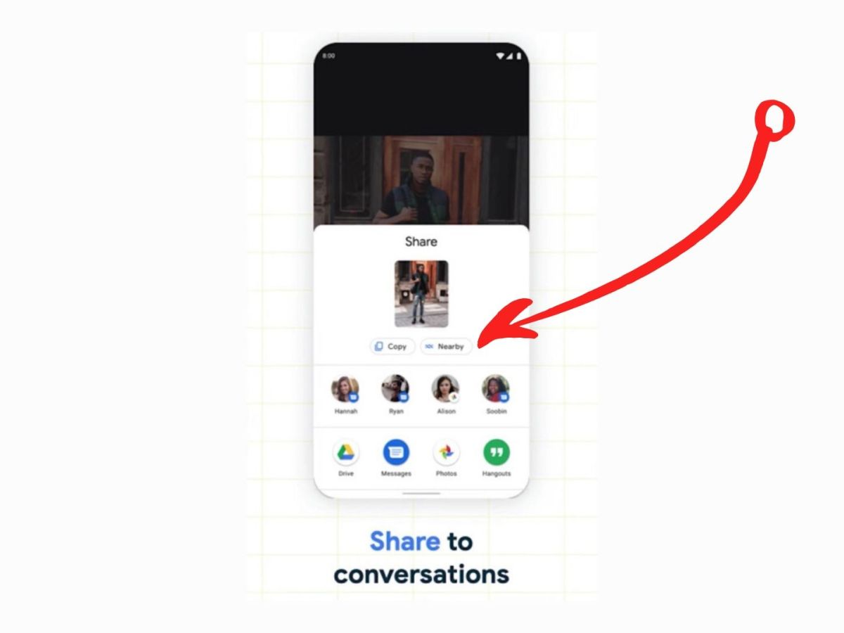 Google Leak Nearby Share Button Android 11