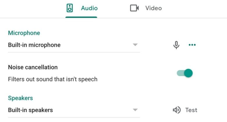 Google Meet Noise Cancellation