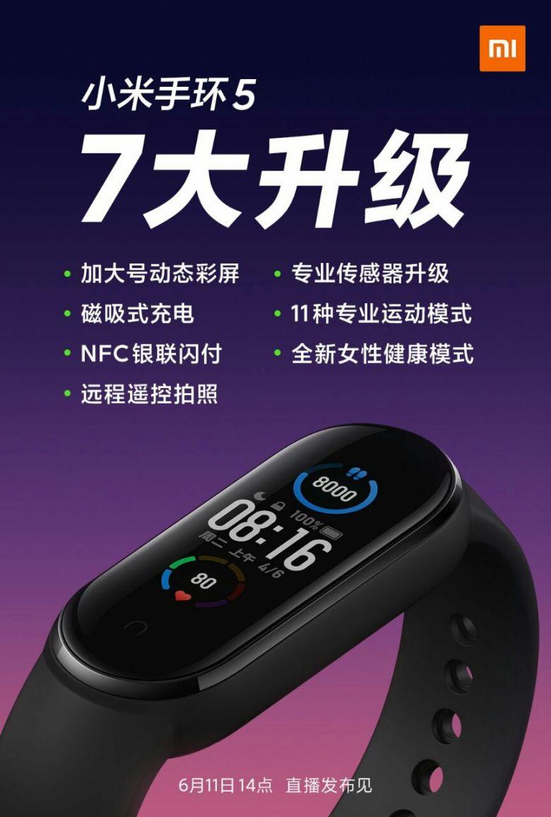Mi Band 5 China Plakat