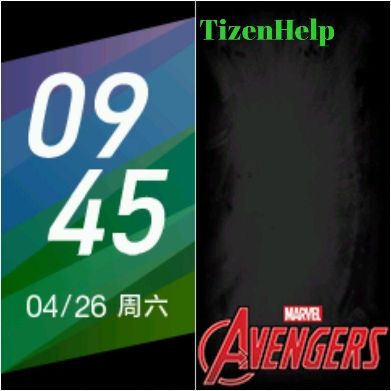 Xiaomi Mi Band 5 Avengers Watchfaces