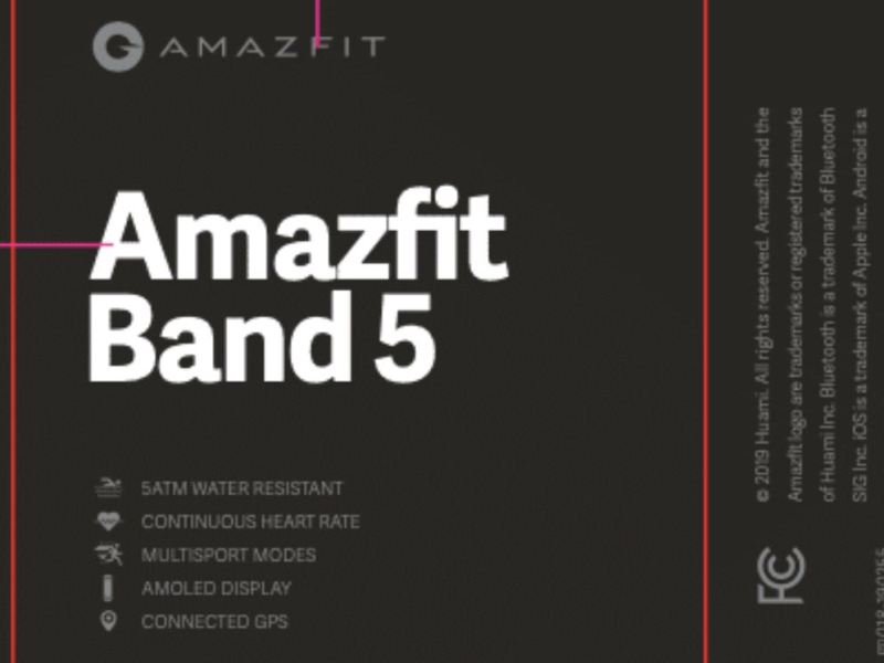 Amazfit Band 5 Fcc Leak