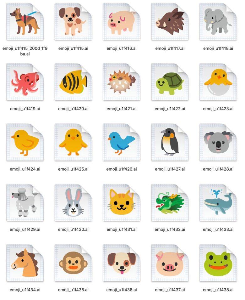 Android 11 Final Emoji Animals 1