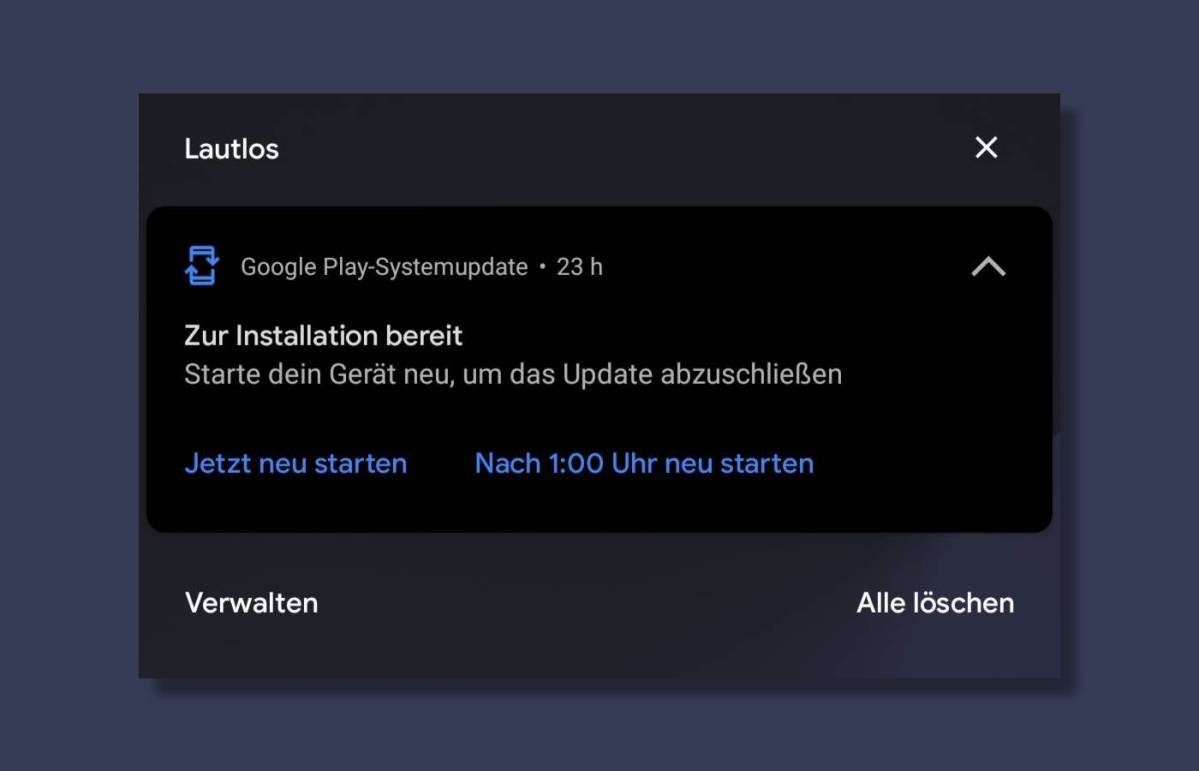 Google Play Systemupdate
