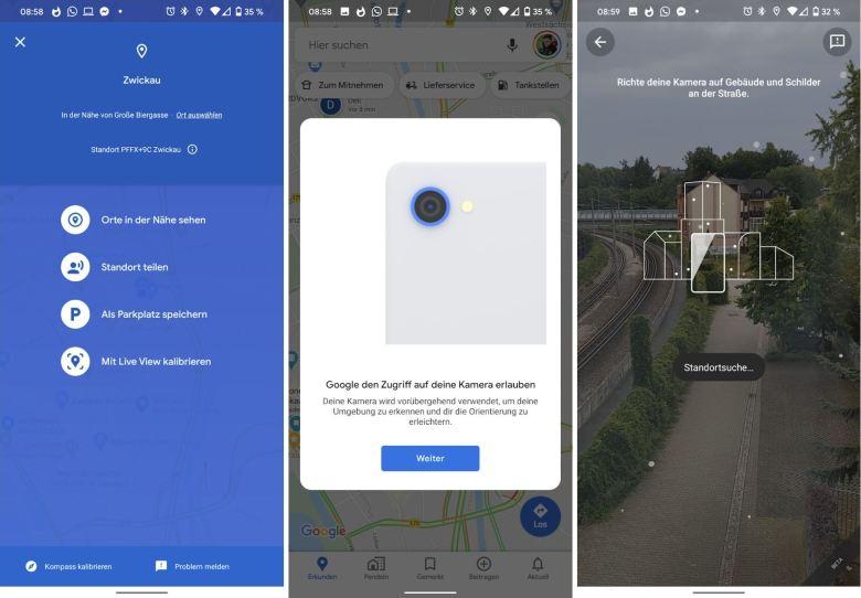 Live View Kalibrierung In Google Maps