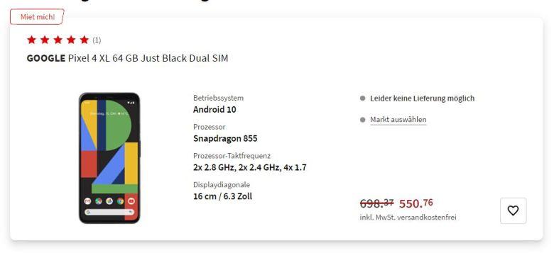 Pixel 4 Xl Angebot Mediamarkt