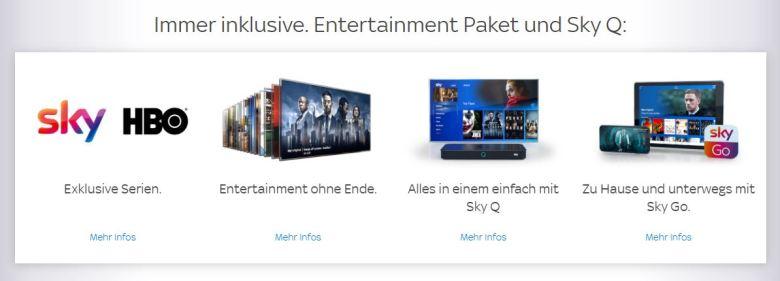 Sky Entertainment Immmer Inklusive