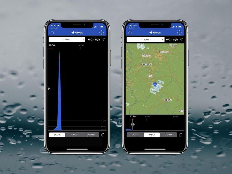 Drops App Regenwarn App Buienalarm Header