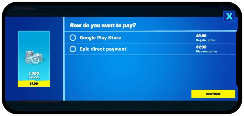 Fortnite Direct Pay Android 1