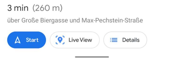 Google Maps Live View Taste