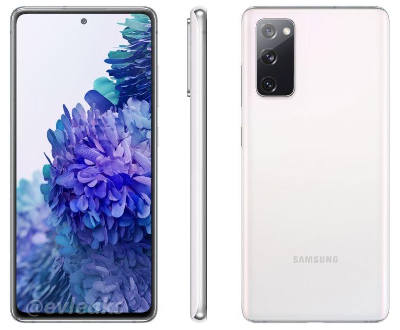 Samsung Galaxy S20 Fan Edition Weiß Evleaks