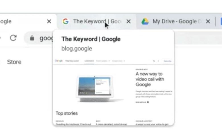 Tabvorschau Chrome