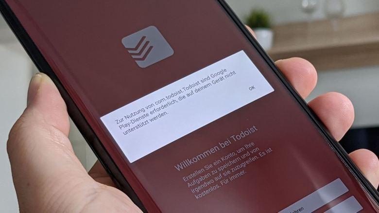 Todoist Google Play Dienste