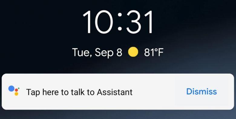 Google Assistant Sperrbildschirm Screenshot