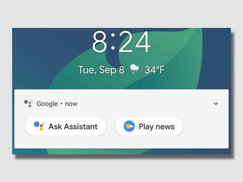 Google Assistant Sperrbildschirm