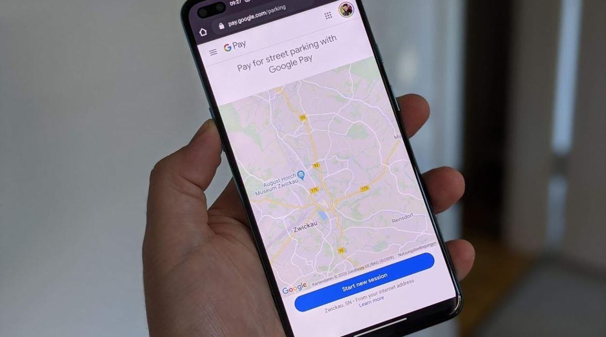Google Pay Maps Parkplatzgebühren