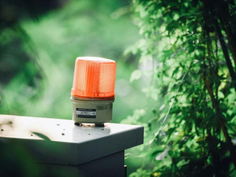 Rotes Licht Warnung Alarm
