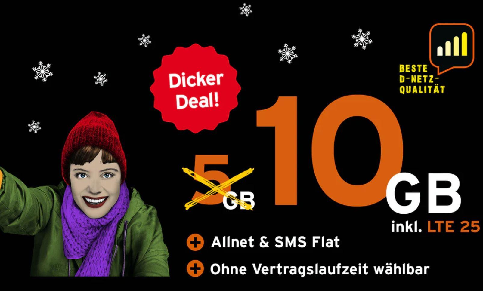 Reduziert: Congstar haut seine 10 GB Allnet-Flatrate günstiger raus