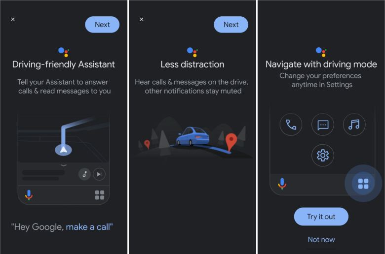 Google Assistant Driving Friendly