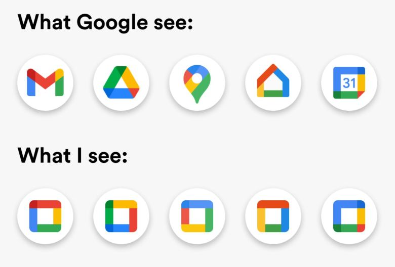 Google Icons Redesign Reddit Fun